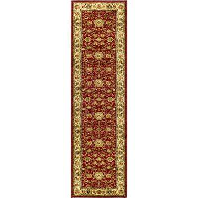 Lyndhurst Red/Ivory 2 ft. x 18 ft. Runner Rug