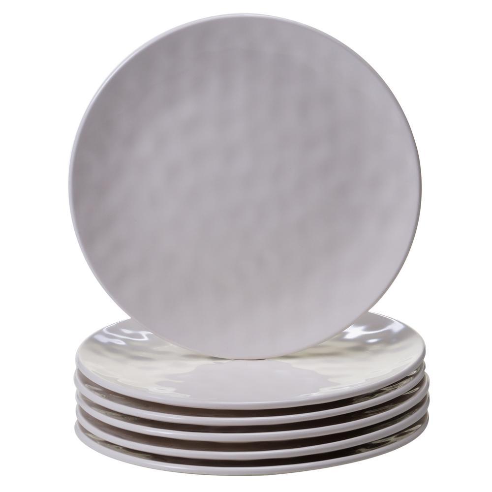 6-Piece Cream Salad Plate Set
