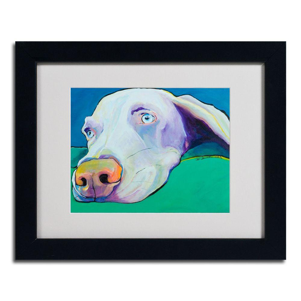 16 in. x 20 in. Fritz Black Framed Matted Art