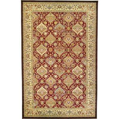 Agra Red 11 Ft X 16 Area Rug