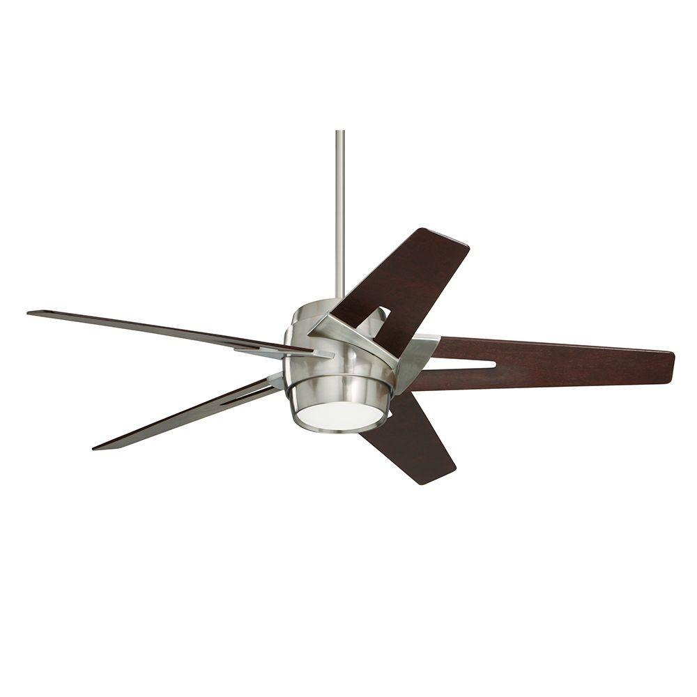 Illumine Zephyr 54 in. Indoor Brushed Steel Ceiling Fan