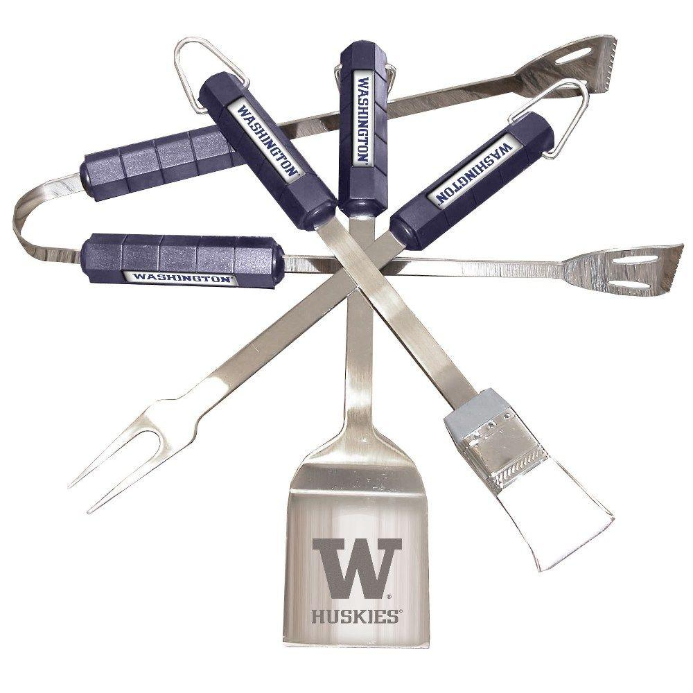 NCAA Washington Huskies 4-Piece Grill Tool Set