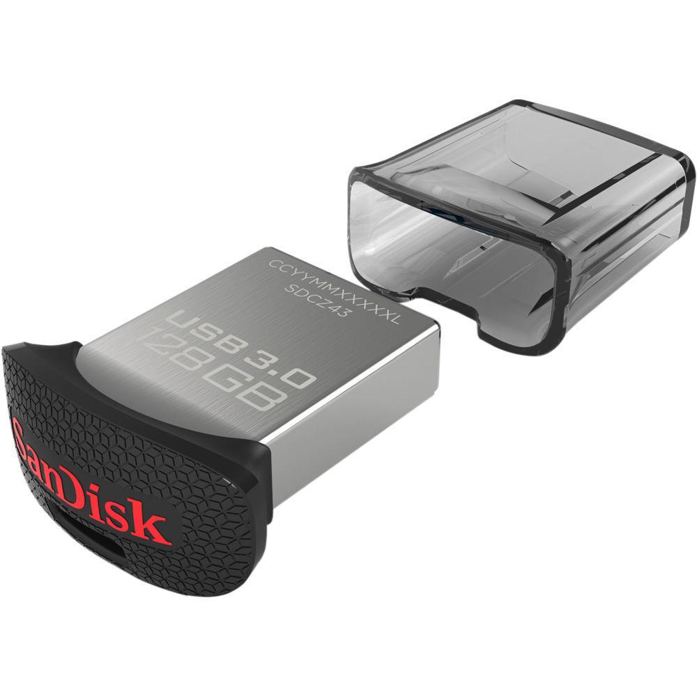 Sandisk 128GB CZ43 Ultra Fit USB 3.0, Silver
