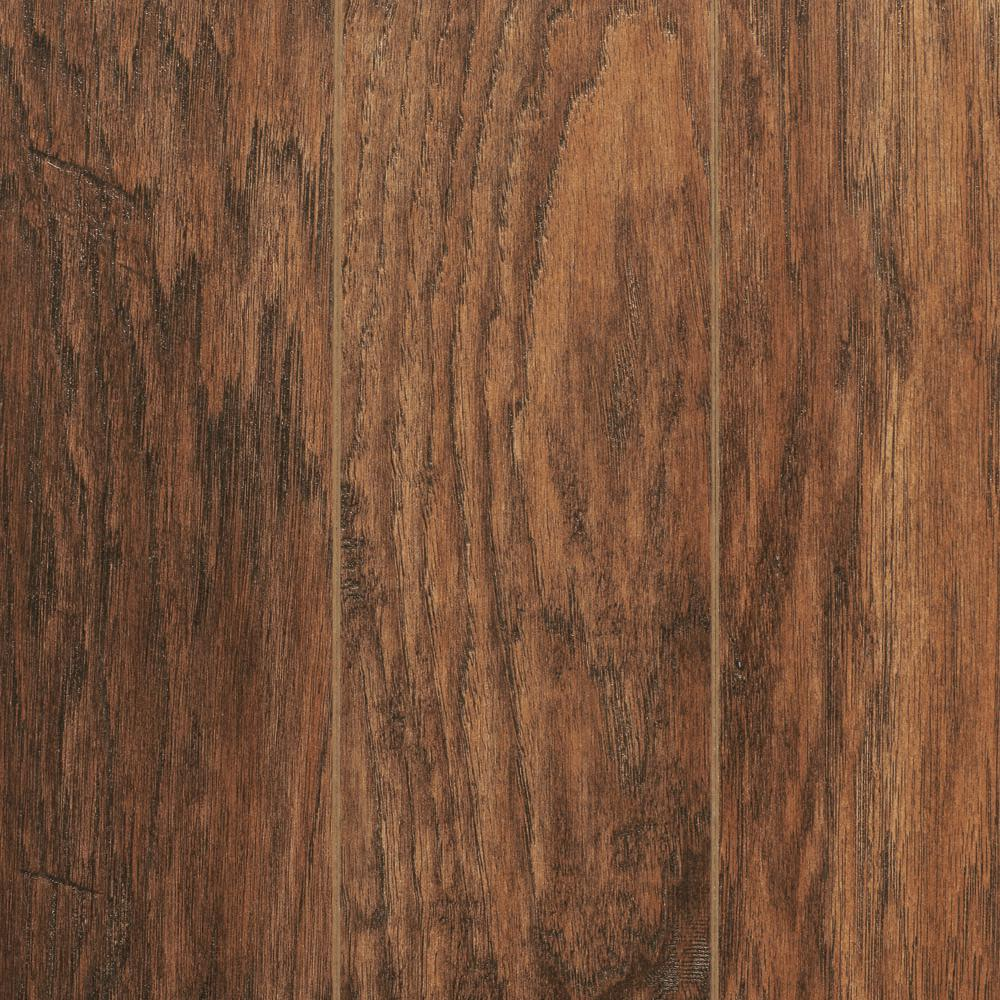 Take Home Sample - Hand-Scraped Medium Hickory Laminate Flooring - 5