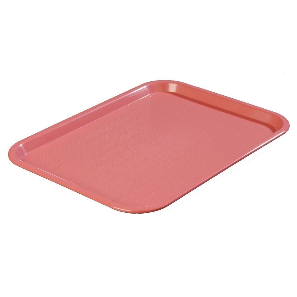 14 in. x 18 in. Polypropylene Serving/Food Court Tray in Mauve