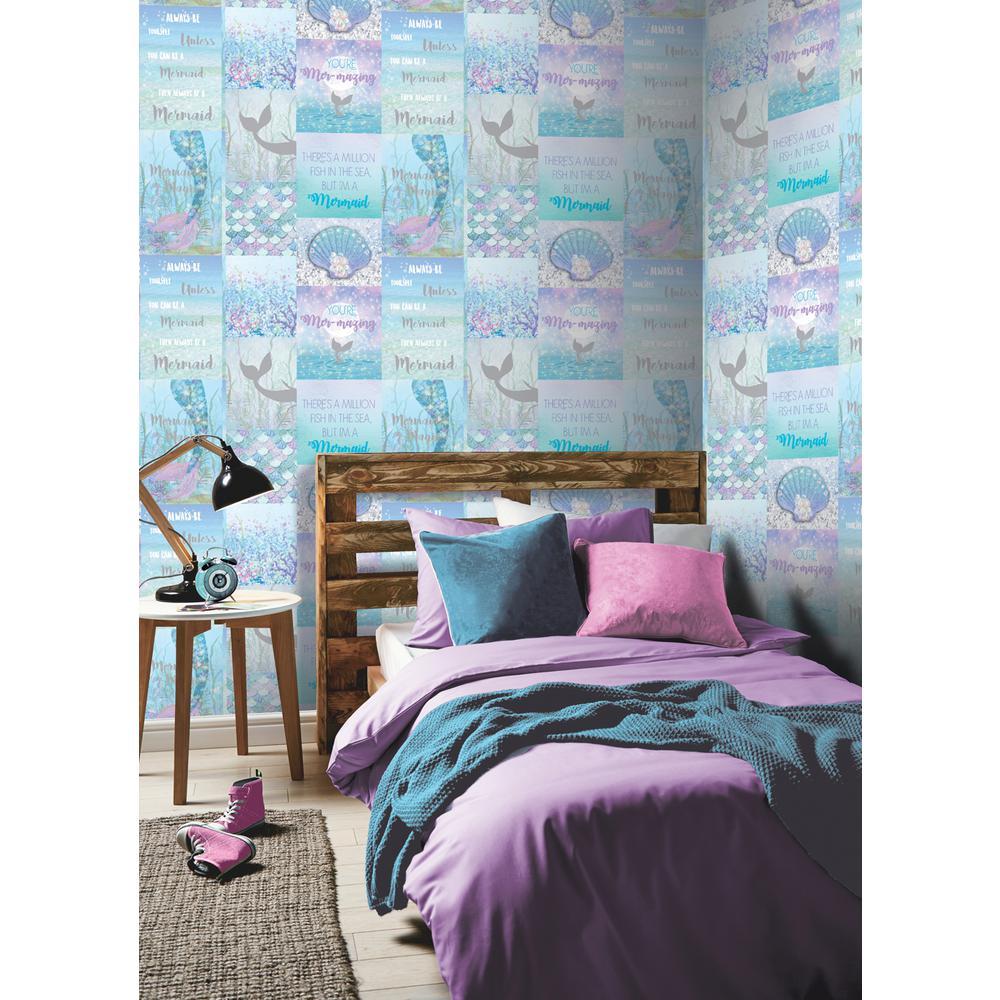 Mermazing Ice Blue Wallpaper
