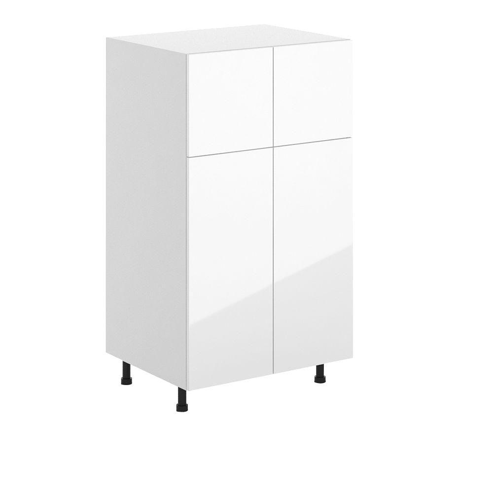 Eurostyle Valencia Ready To Assemble 30 X 49 X 24 5 In Pantry Utility Cabinet In White Melamine