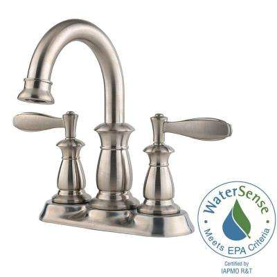 Langston 4 in. Centerset 2-Handle High-Arc Bathroom Faucet in Brushed Nickel