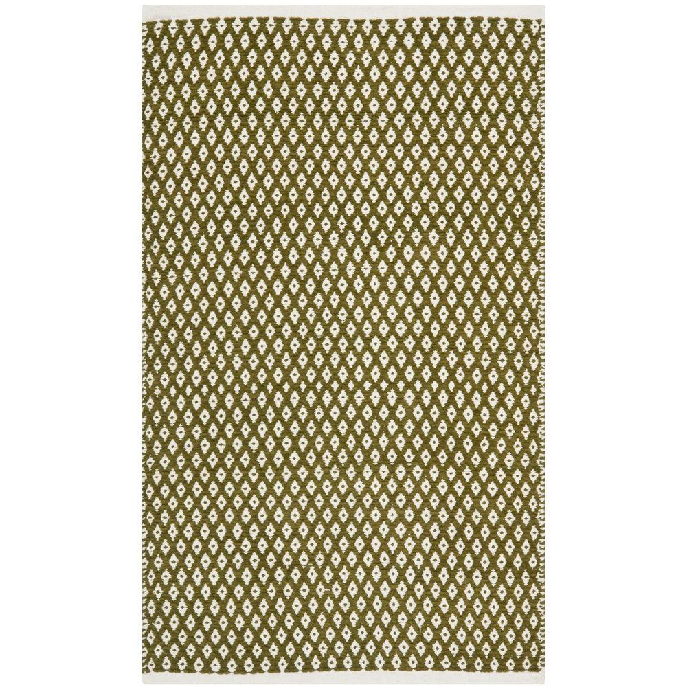 Boston Olive 2 ft. 6 in. x 4 ft. Area Rug