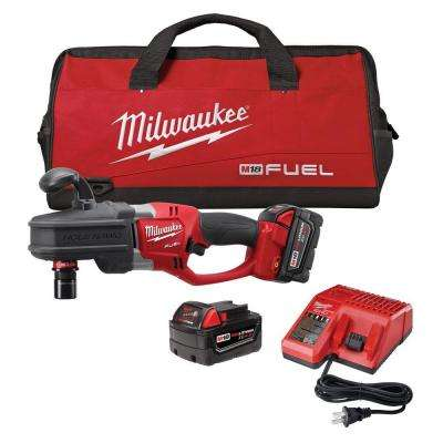 M18 FUEL 18-Volt Cordless Brushless Lithium-Ion 1/2 in. Hole Hawg Right Angle Drill Kit with Quick-Lok