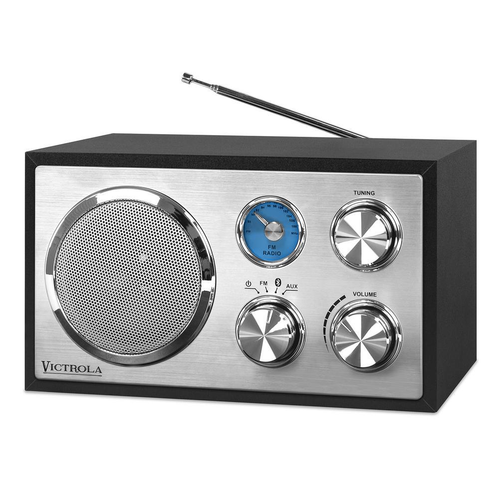 Wooden Desktop Bluetooth Radio in Black