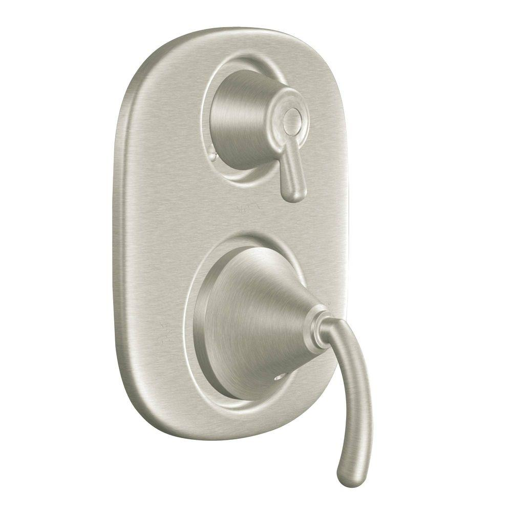moen icon 2 handle moentrol with transfer valve trim kit in brushed