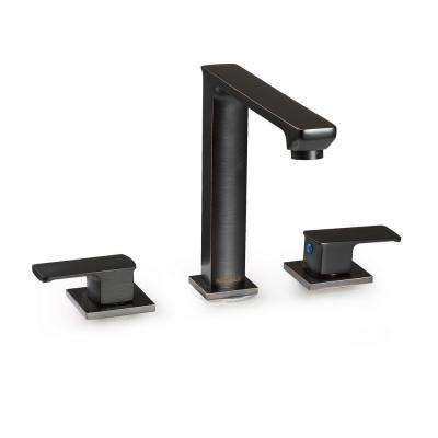 Hadraniel 8 in. Widespread 2-Handle Tall High-Arc Bathroom Faucet in Oil Rubbed Bronze