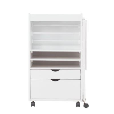 Stanton 20 in. W Deluxe Wrapping Storage Cart in White