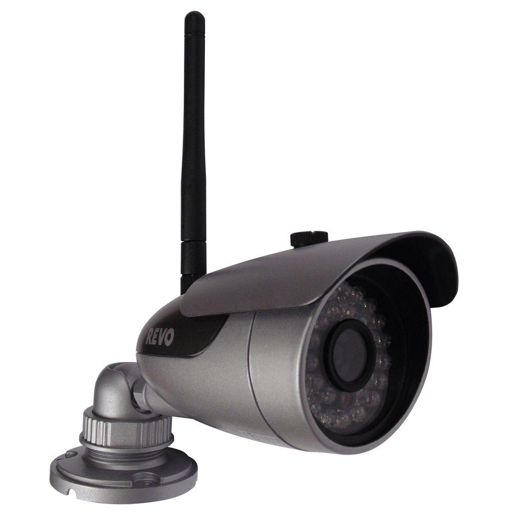 Revo Wireless 600 TVL Bullet Indoor/Outdoor Surveillance Camera ...