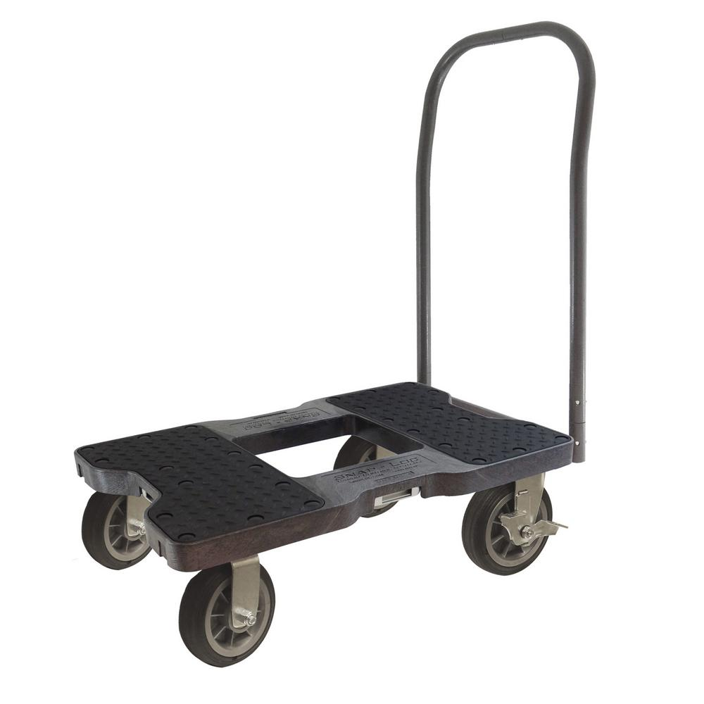 SNAP-LOC 1,500 lb. Capacity Air-Ride Push Cart Dolly in B...
