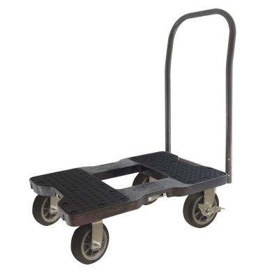 1,500 lb. Capacity Air-Ride Push Cart Dolly in Black