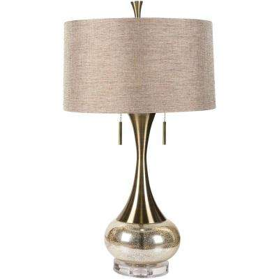 Malone 33 in. Aged Brass Indoor Table Lamp