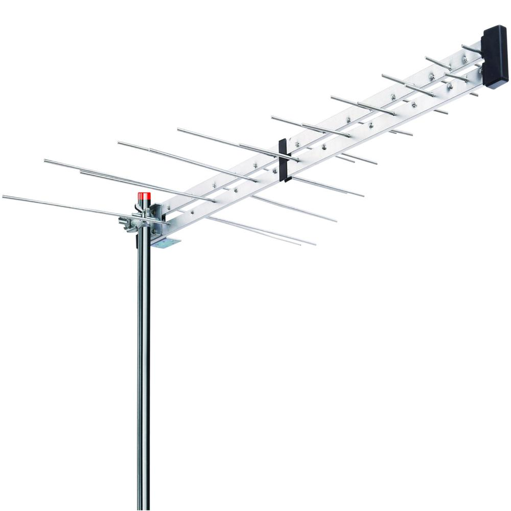 BoostWaves Yagi Roof Top TV Antenna Optimized HDTV Digital Outdoor Directional Aerial VHF UHF FM