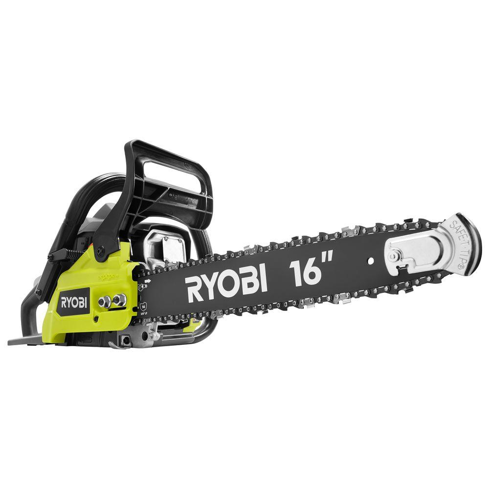 Ryobi 16 in 37cc 2 cycle gas chainsaw with heavy duty case ry3716 37cc 2 cycle gas chainsaw with heavy duty case greentooth