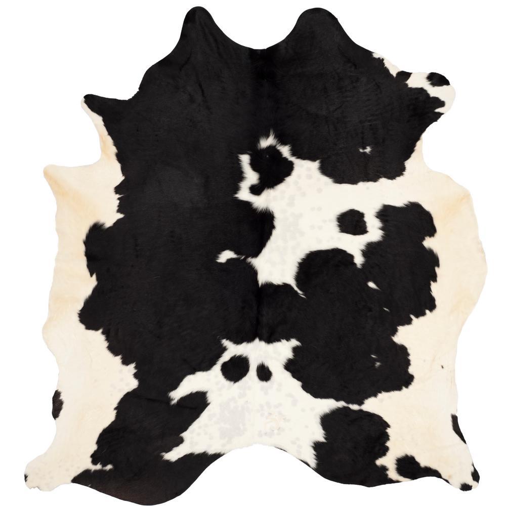 Cow Hide Black/White 6 ft. x 7 ft. Area Rug