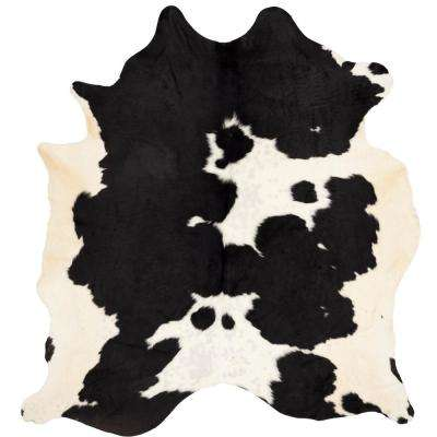 Cow Hide Black/White 6 ft. x 7 ft. Area Rug