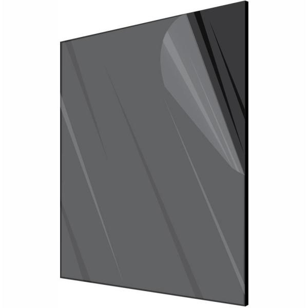 Adiroffice 12 In X 12 In X 1 8 In Black Opaque Plexiglass Acrylic Sheet 6 Pack 1212 6 B The Home Depot