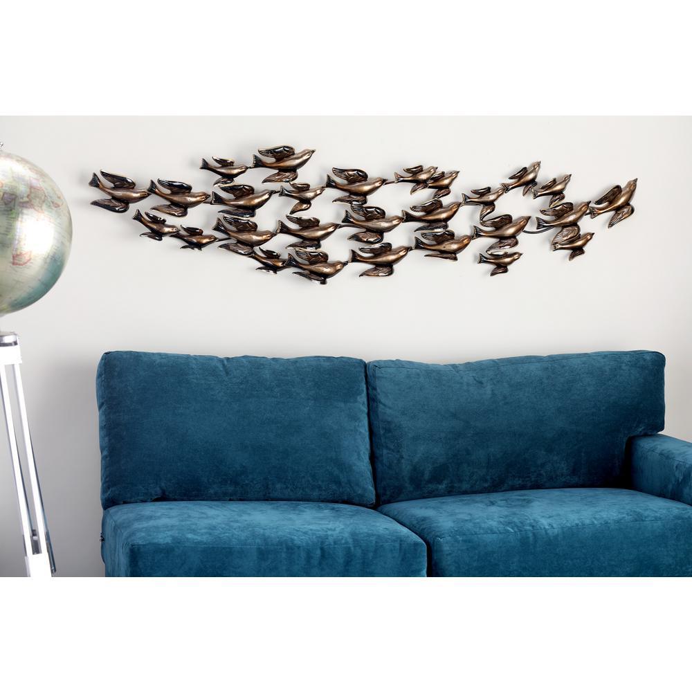 Iron Bronze 26 Birds in Flight Metal Work