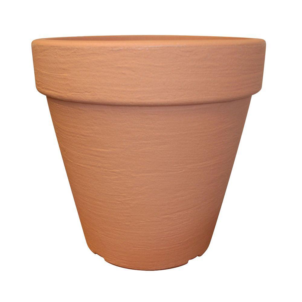 16 in. Round Terra Cotta Flower Pot