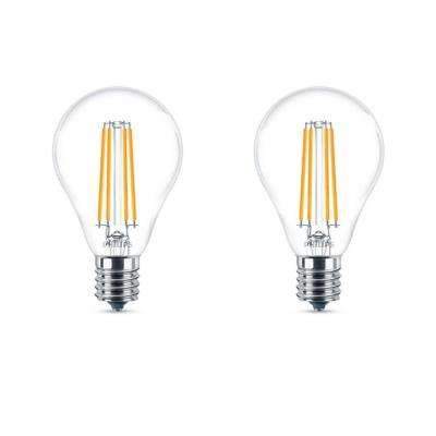 40-Watt Equivalent A15 Dimmable LED Light Bulb Soft White (2-Pack)