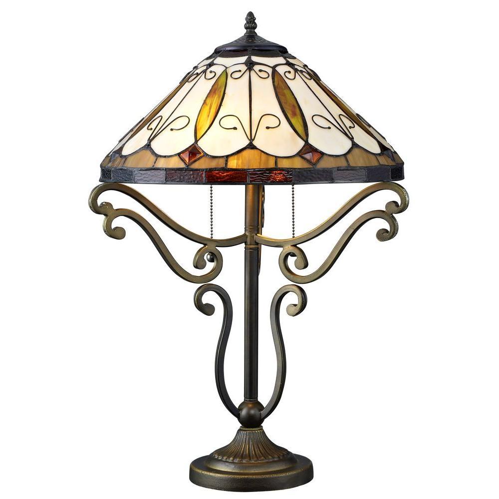 Serena D'italia Tiffany Arroyo Styled 24 inch Bronze Table Lamp by Serena D'italia