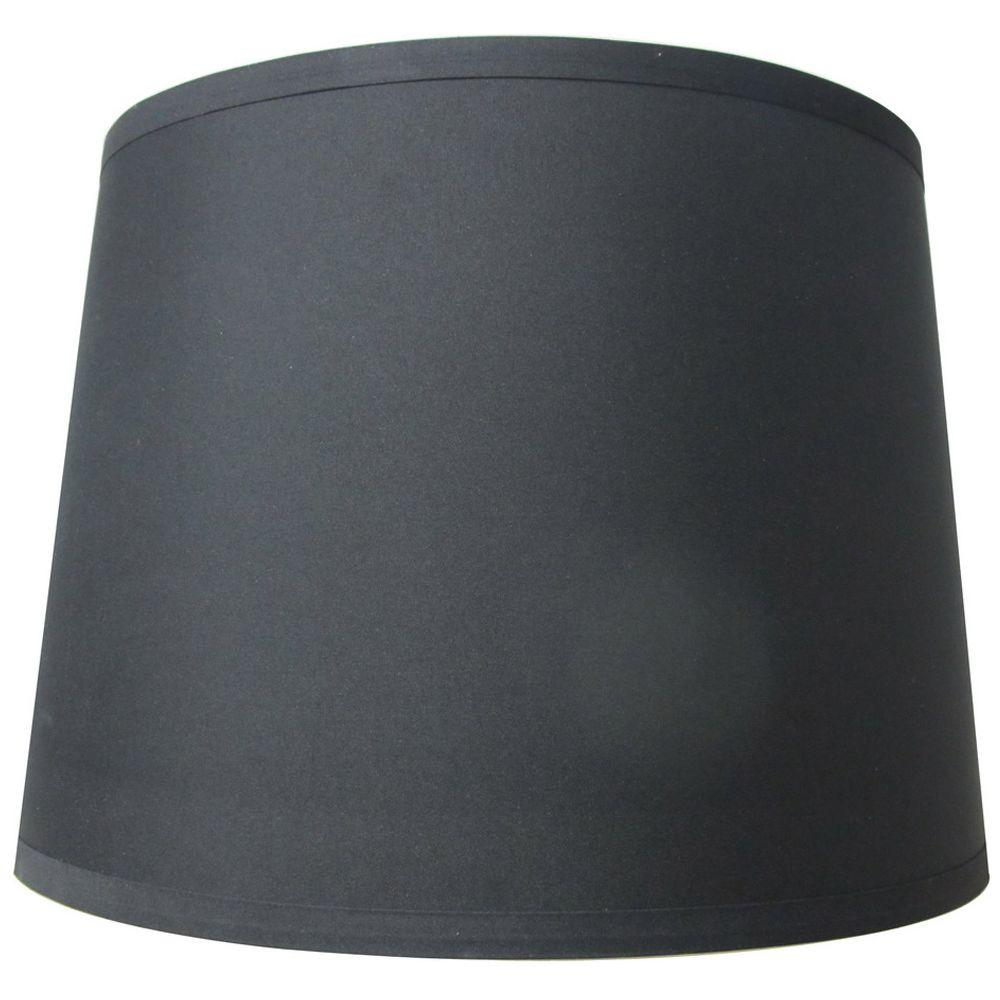Hampton Bay Mix Match Black Drum Table Shade