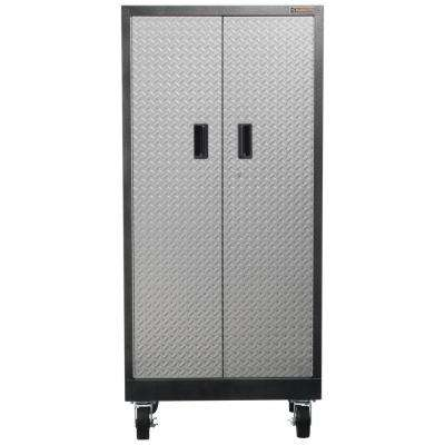 Premier Series Pre-Assembled 66 in. H x 30 in. W x 18 in. D Steel Rolling Garage Cabinet in Silver Tread