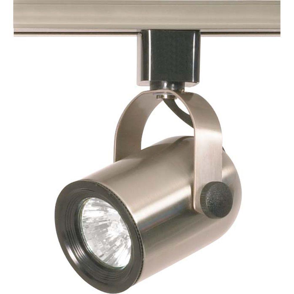 1-Light MR16 120-Volt Brushed Nickel Round Back Track Lighting Head