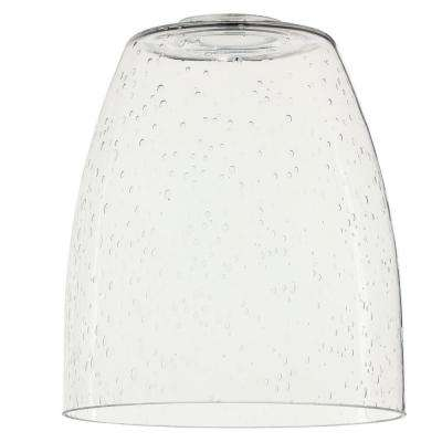 6-15/16 in. Clear Seeded Glass Shade with 2-1/4 in. Fitter and 6 in. Width