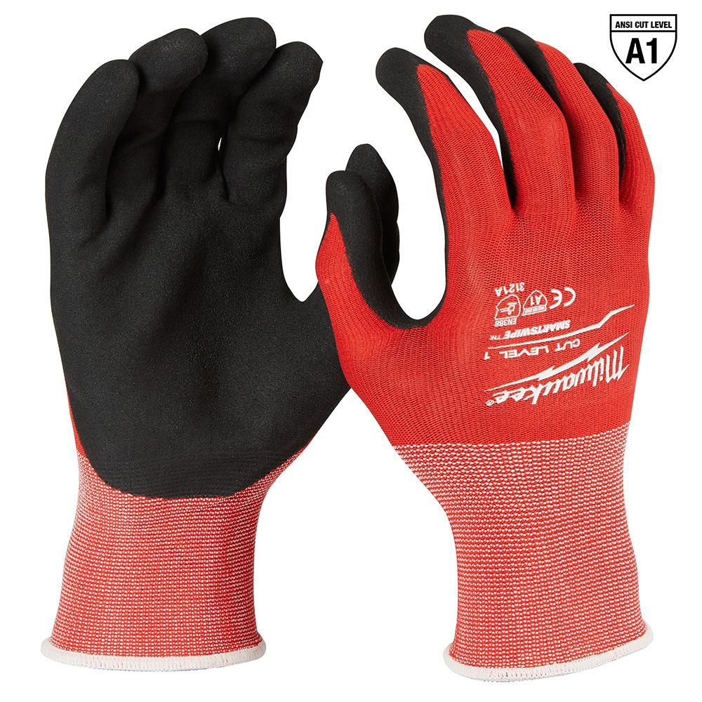 Milwaukee Small Red Nitrile Dipped Work Gloves