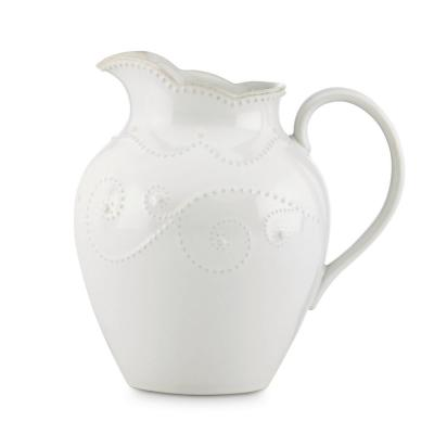 French Perle White Medium Pitcher