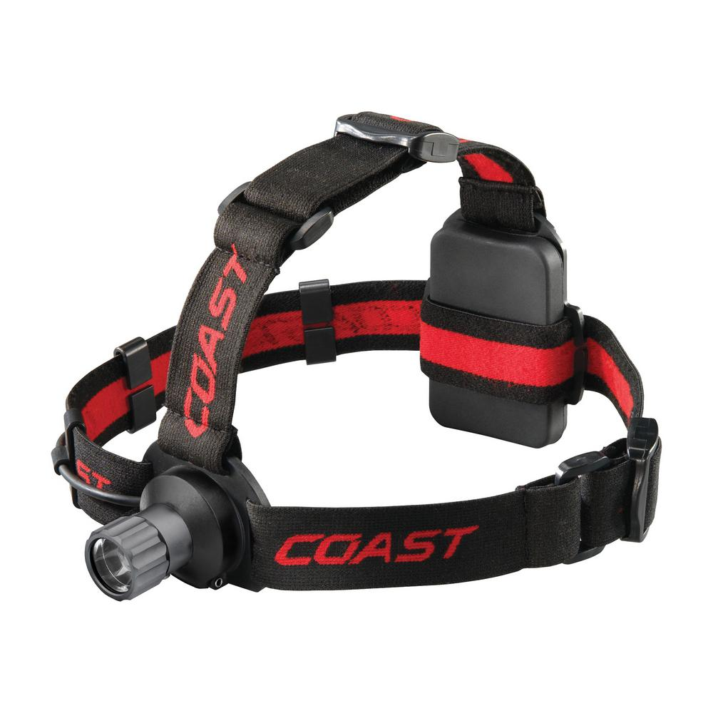 Coast HL40 300 Lumen LED Headlamp with Hardhat Compatibility