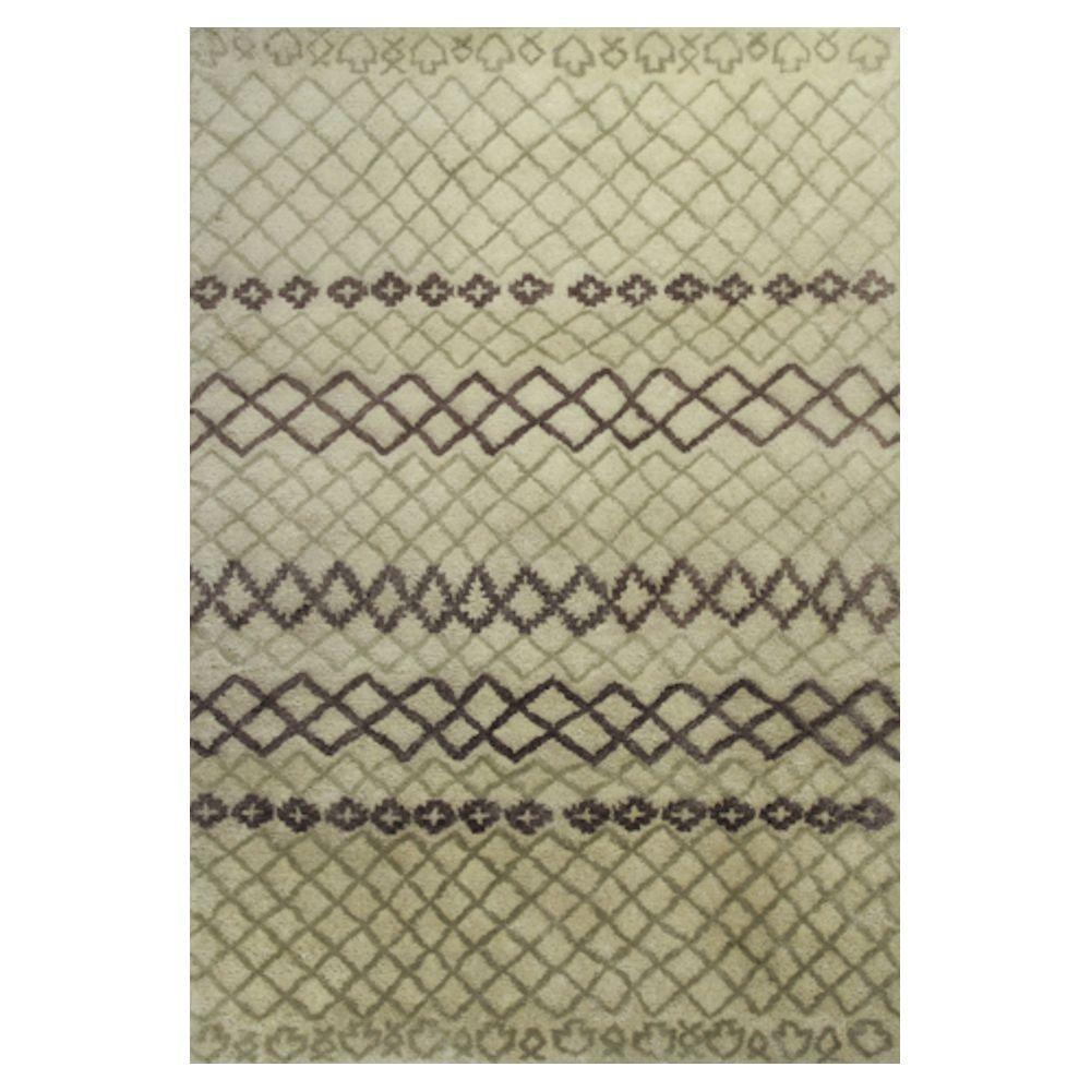 Kas Rugs Moroccan Ivory/Brown 5 ft. x 7 ft. 6 in. Area Rug