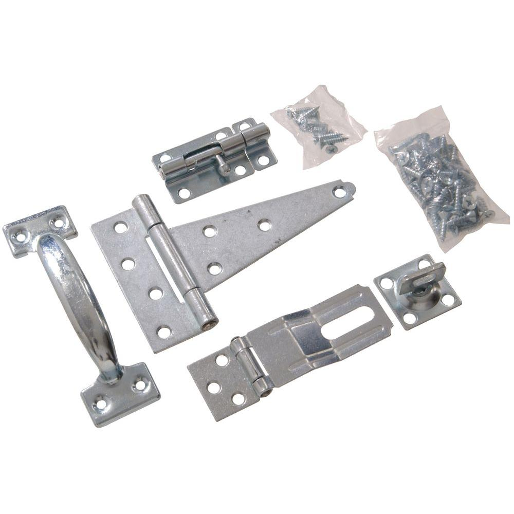 The Hillman Group Barn Hardware Kit in Zinc-Plated (1-Pack)