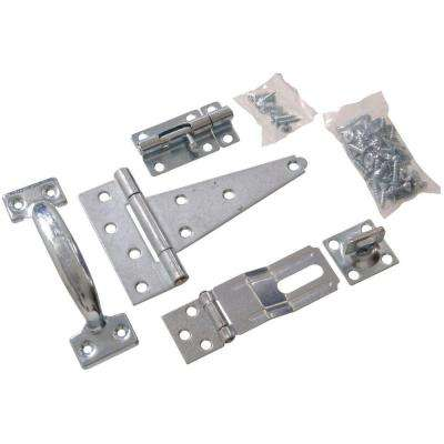 Barn Hardware Kit in Zinc-Plated (1-Pack)