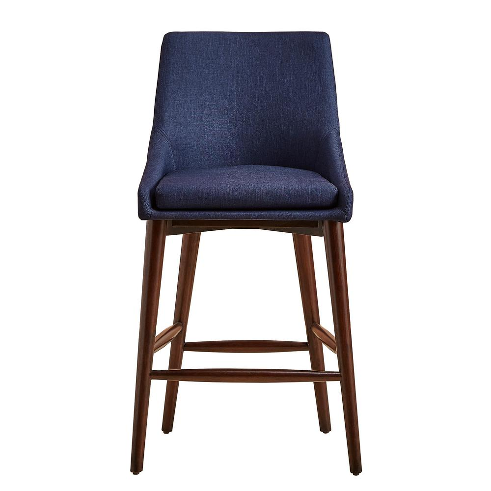 Homesullivan 24 In Nobleton Twilight Blue Mid Century Bar Stool Set Of 2 405048 24tbl2p The