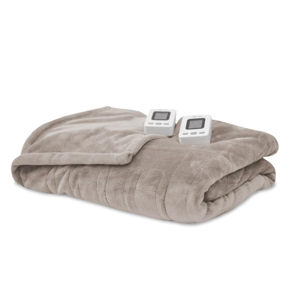 Cappuccino Polyester Fleece Queen Warming Blanket