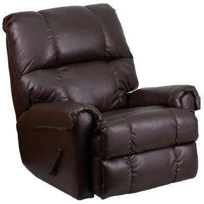 Ty Chocolate Leather Recliner