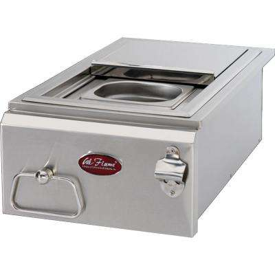12 in. Built-In BBQ Stainless Steel Cocktail Center