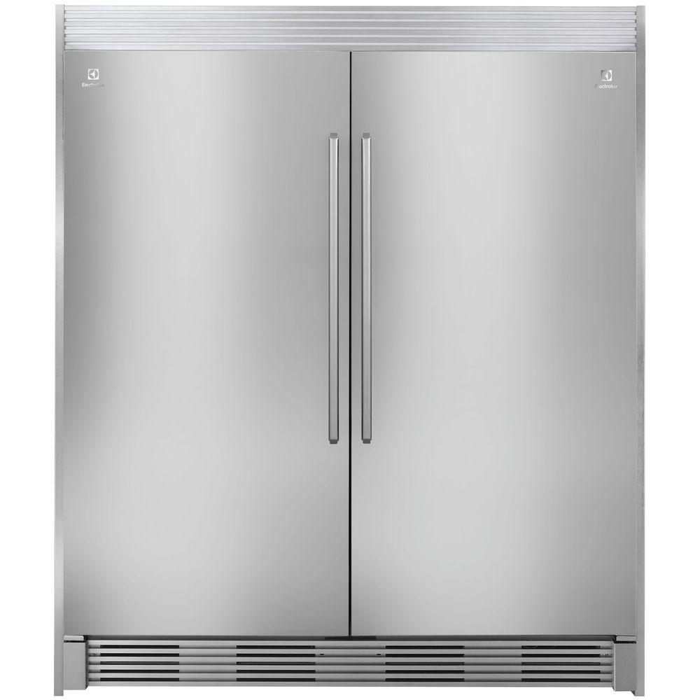 Electrolux 79 In. Double Louvered Trim Kit For All Refrigerator Or All  Freezer In Stainless Steel TRIMKITSS2   The Home Depot
