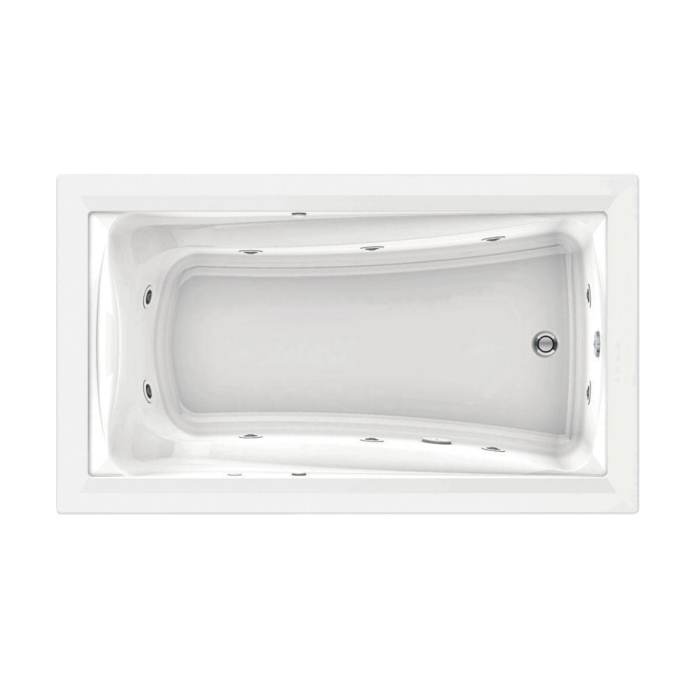 American Standard Green Tea 6 ft. Whirlpool Tub in White