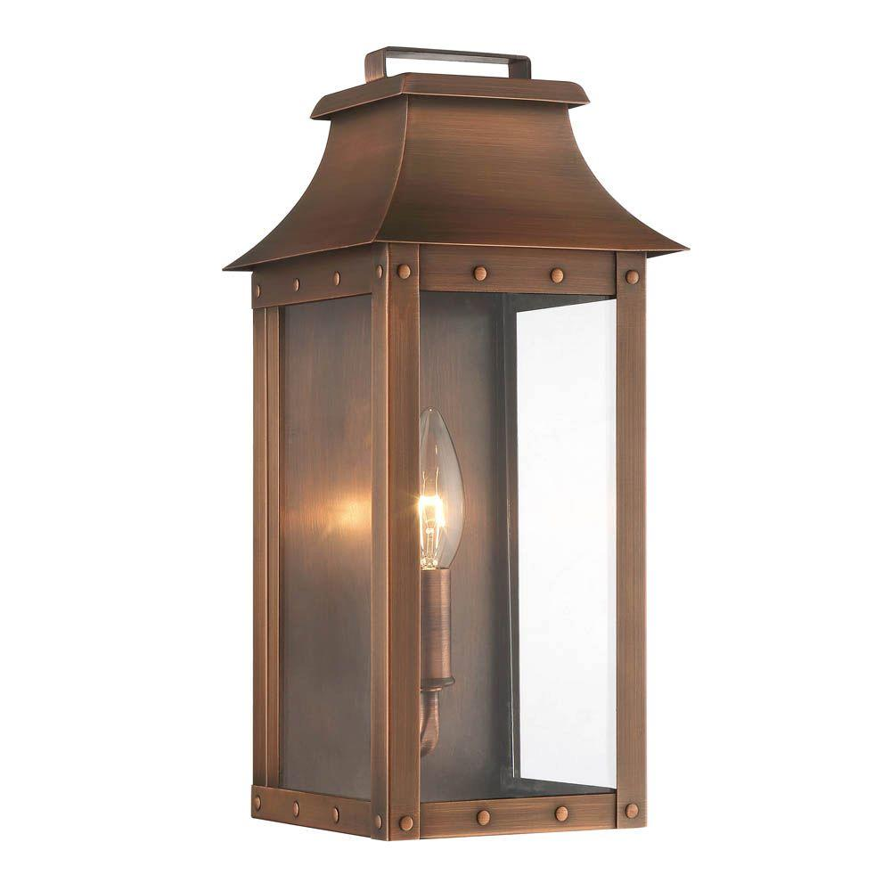 Acclaim Lighting Outdoor Wall Lights Acclaim Lighting Manchester Collection 1-Light Copper Patina Outdoor Wall  Lantern