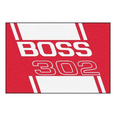 Ford - Boss 302 Red 8 ft. x 5 ft. Indoor Rectangle Area Rug