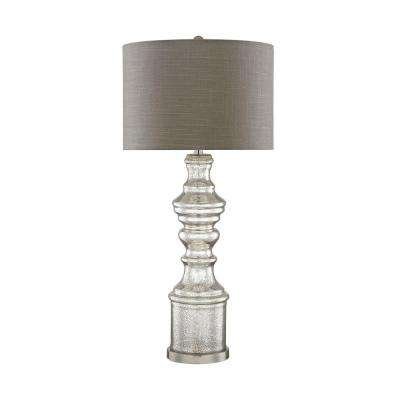 Roxie 35 in. Silver Mercury and Satin Nickel Table Lamp